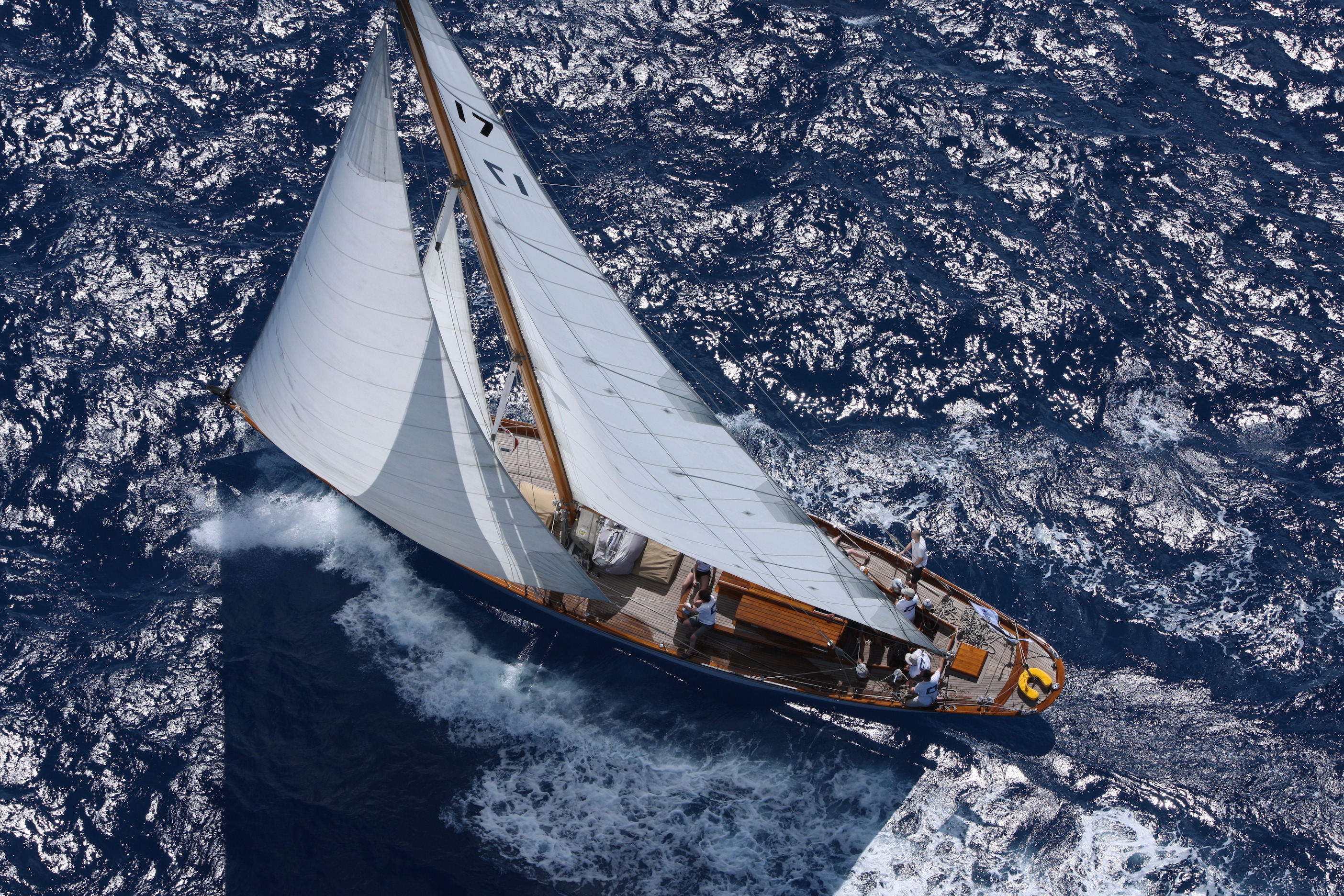Adela starting the RORC Caribbean 600 off the Pillars of Hercules, Antigua © RORC/Tim Wright/photoaction.com