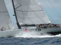 Mike Slade's ICAP Leopard leading the monohull fleet