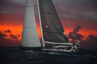 Swan 70 Blue Pearl in a Caribbean dawn