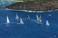Start of the inaugural RORC Caribbean 600 Race. Photo: Tim Wright