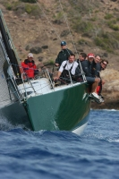 David Aisher's Yeoman XXXII at the finish line
