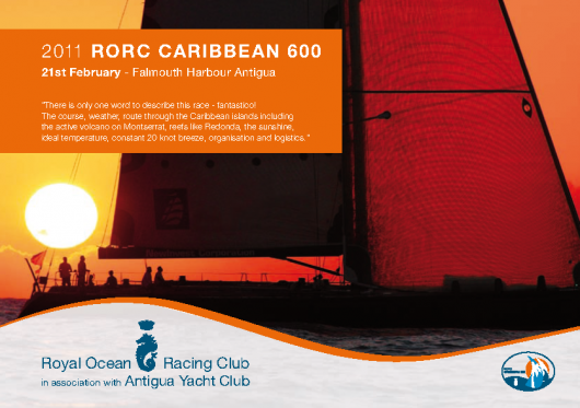 2011 RORC Caribbean 600 Race Flyer