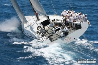 Karl Kwok's Beau Geste is the winner of the 2010 RORC Caribbean 600 Race. Photo: Tim Wright, photoaction.com