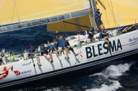 BLESMA crew during the 2010 RORC Caribbean 600 Race. Photo: Tim Wright, photoaction.com