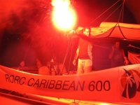Willy Bissainte celebrates finishing the RORC Caribbean 600