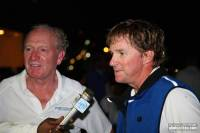 George David and Kenny Read talking dockside, after taking line honours the RORC Caribbean 600 on Rambler 100