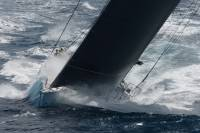 George David's Rambler 100 revelling in rough conditions during the 2011 RORC Caribbean 600. Photo: RORC/Tim Wright