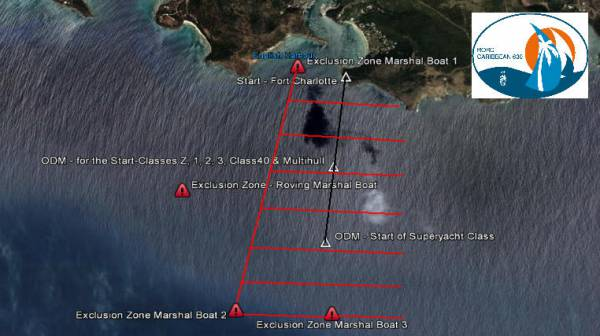 2012 RORC Caribbean 600 Spectator Exclusion Zone