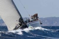 Amanda Hartley and the Spanish crew on Clem, Swan 56