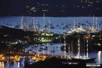 Falmouth Harbour at night. Photo: RORC/Tim Wright photoaction.com