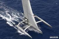 Olivier Vigoureux's 63ft trimaran, Paradox. Photo: RORC/Tim Wright photoaction.com