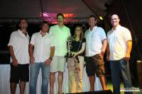 Niklas and Catherine Zennstrom and crew at the prizegiving of the 2012 RORC Caribbean 600. Photo: RORC/Tim Wright photoaction.com