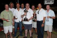 The triumphant crew of Privateer with their trophies for the RORC Caribbean 600. Photo: RORC/Tim Wright photoaction.com
