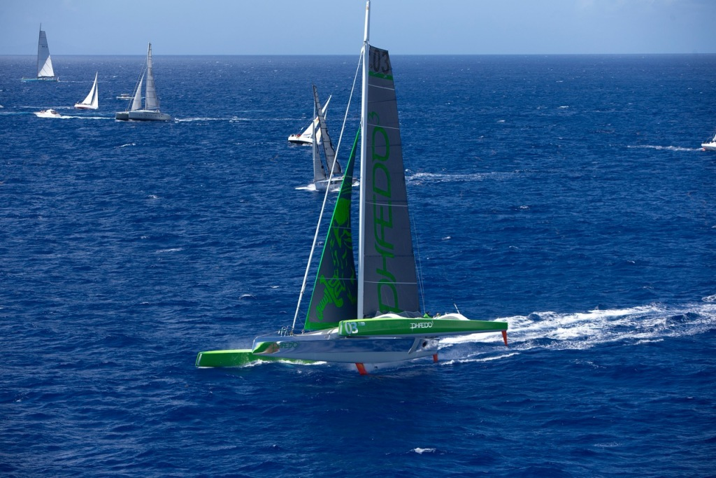 Phaedo3 enjoy a flying start to their record breaking race. Credit: Richard and Rachel/Team Phaedo