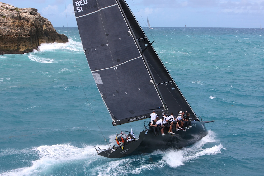 Piet Vroon's Ker 51, Tonnerre 4, at the start of the RORC Caribbean 600. Credit: RORC/Tim Wright/www.photoaction.com