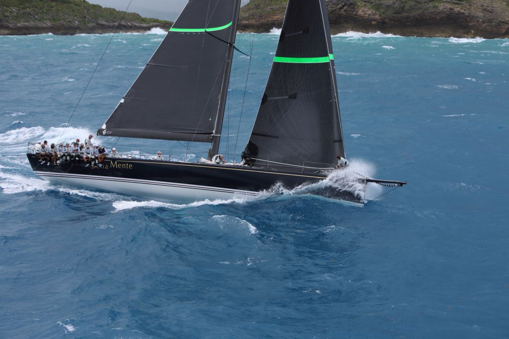 Bella Mente on her way to winning the 2015 RORC Caribbean 600 - photo RORC/Tim Wright