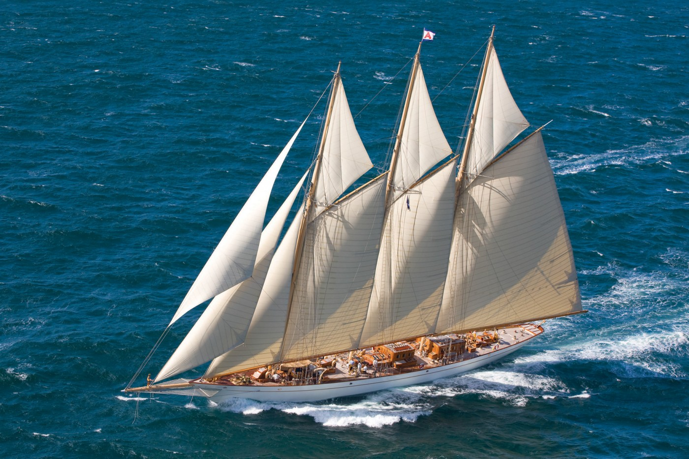 The beautifull 3 masted Schooner, Adix, the biggest boat in the race - photo Pendennis