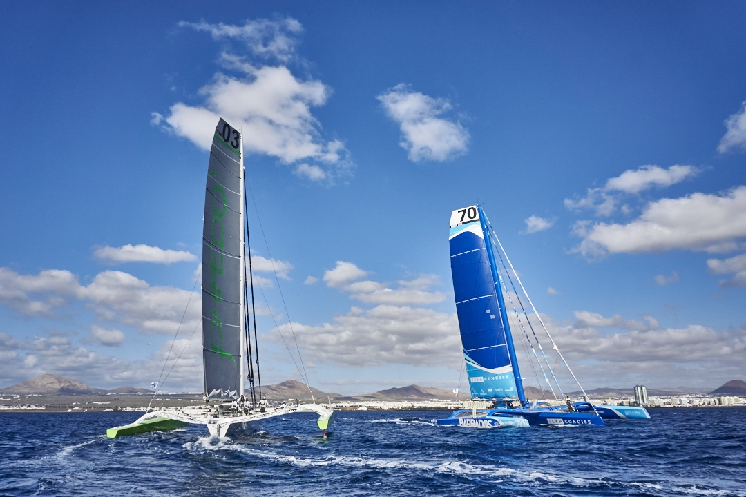 Phaedo3 and Concise 10 line up against each other again - photo RORC/James Mitchell