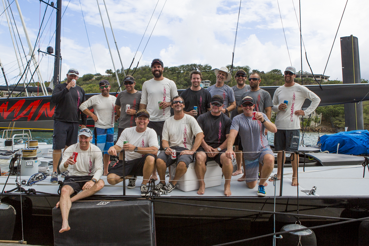 Just arrived in Antigua: Comanche delivery crew from Charleston, USA to  Antigua, West Indies; a distance of 1,500 nautical miles Credit: RORC/Emma Louise Wyn Jones