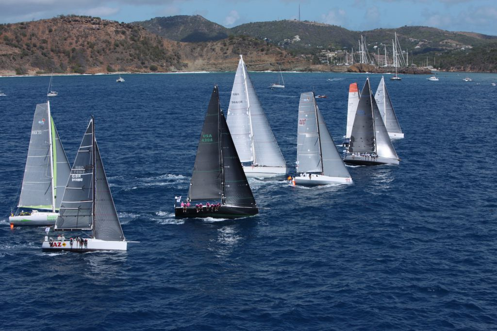 IRC 1 and Class40 fleet at the start of the 8th RORC Caribbean 600 Race  - Credit: RORC/Tim Wrigh