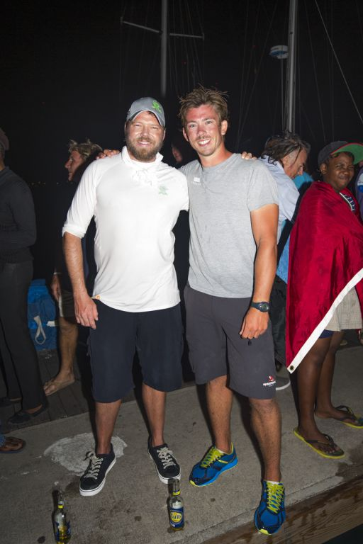 Phaedo3 owner and co-skipper Lloyd Thornburg with skipper of Concise 10 Ned Collier Wakefield © RORC/Emma Louise Wynn Jones