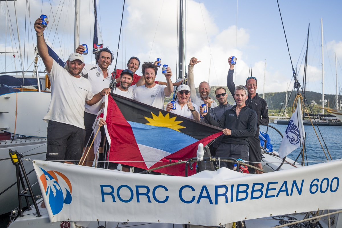 Eric De Turkheim's French A13, Teasing Machine, provisional winners of IRC One © RORC/Emma Louise Wyn Jones