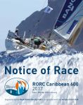 2017 RORC Caribbean 600 Notice of Race