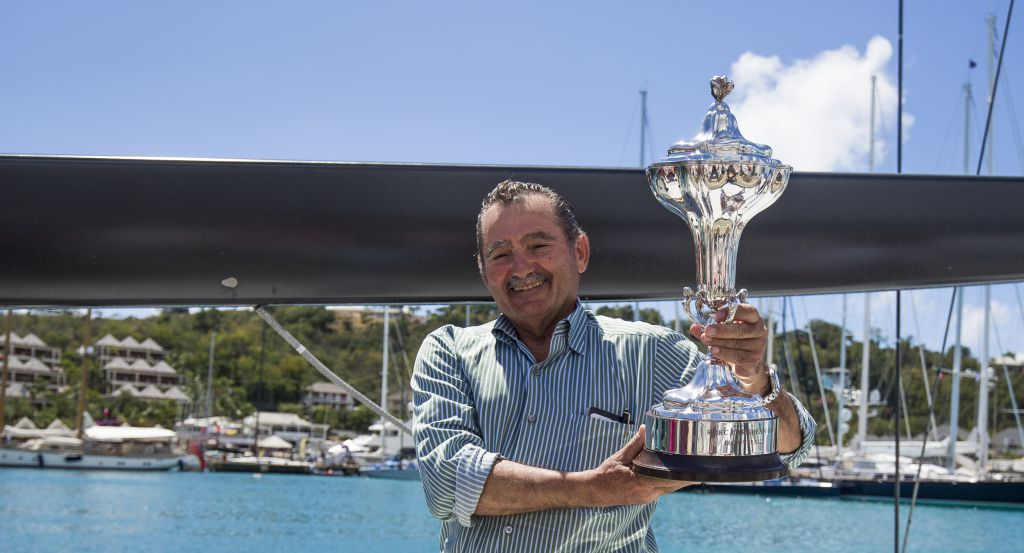 Current holder of the RORC Caribbean 600 Trophy: George Sakellaris, Maxi72, Proteus © RORC/ELWJ Photography