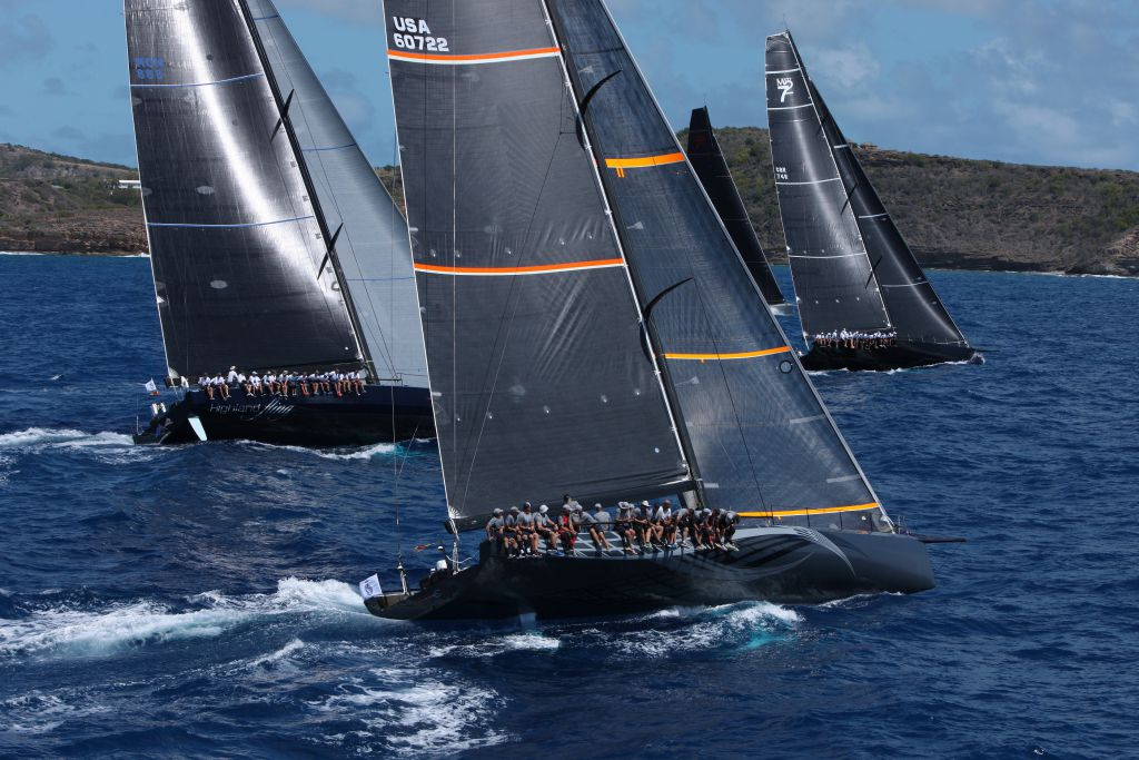 Start of the Maxis in the 2016 RORC Caribbean 600 Race. Photo: RORC/Tim Wright/Photoaction.com