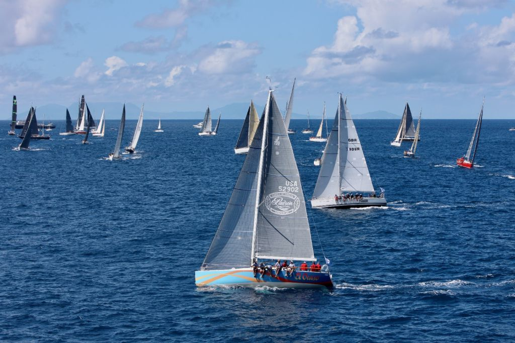 The fleet gets underway at the start of the 2017 RORC Caribbean 600