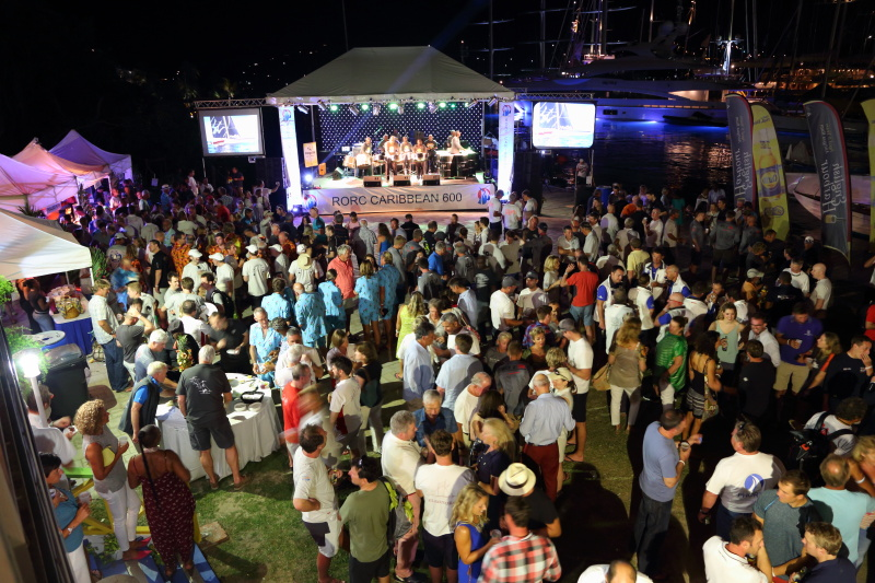 Crews enjoyed the 2017 RORC Caribbean 600 Welcome Party with dancing to the sounds of Panache Steel Orchestra and 1761 band © Tim Wright/Photoaction.com