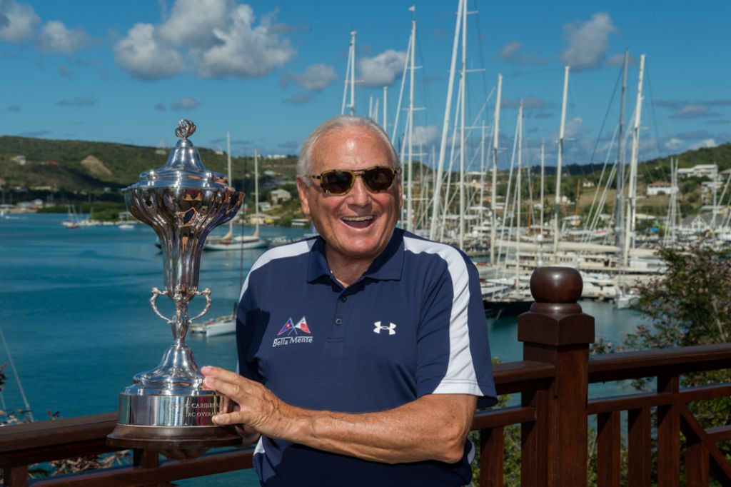 Hap Fauth receives the RORC Caribbean 600 Trophy - Photo RORC/Ted Martin