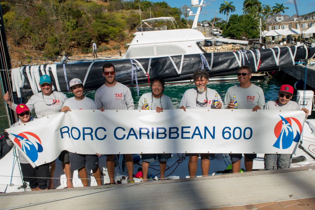 An emotional win in IRC One for Antigua's Bernie Evan Wong and his crew on the RP37, Taz © RORC/Ted Martin