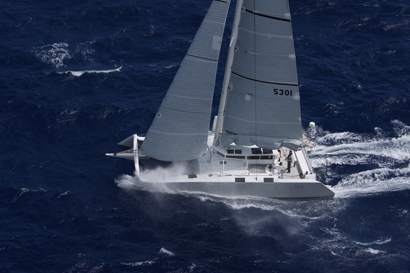 Greg Slyngstad's Bieker 53, Fujin  (USA) at the start of the RORC Caribbean 600  © RORC/Tim Wright/Photoaction.com
