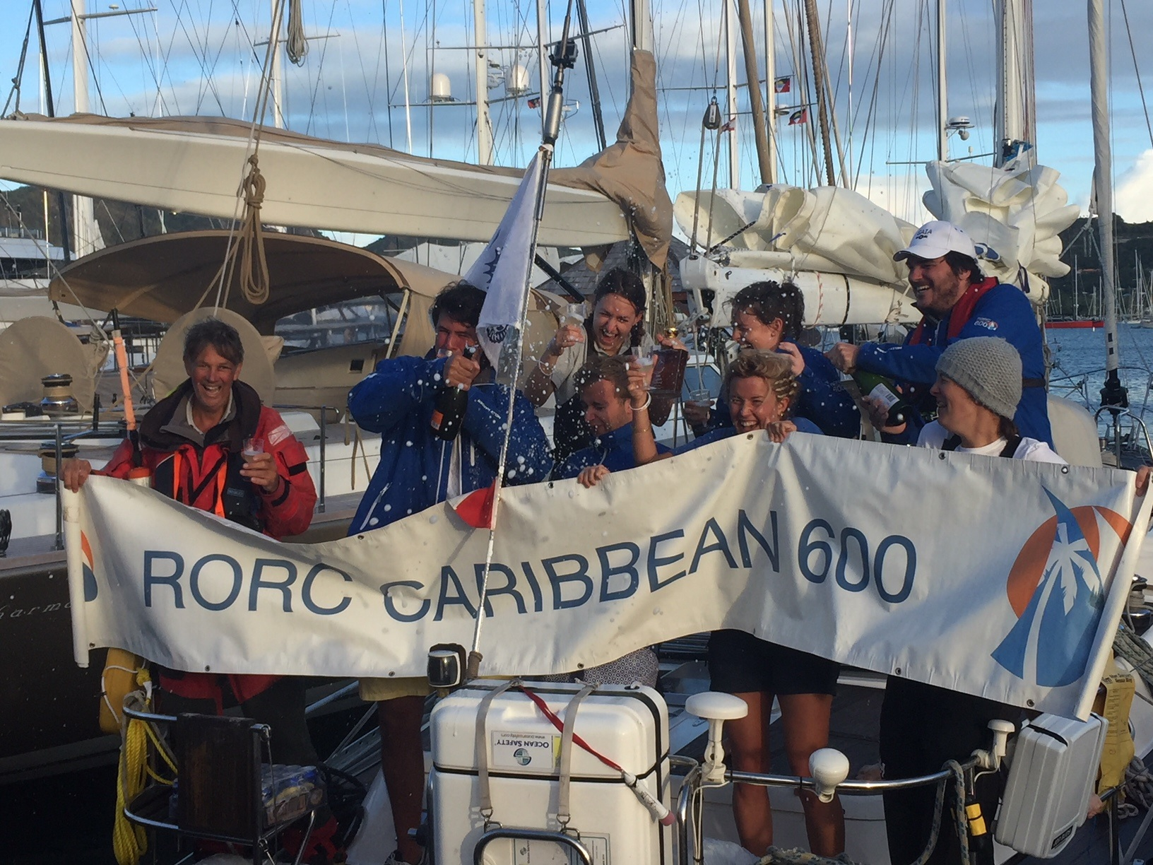 The jubilant crew of Gaia © RORC/Chris Stone