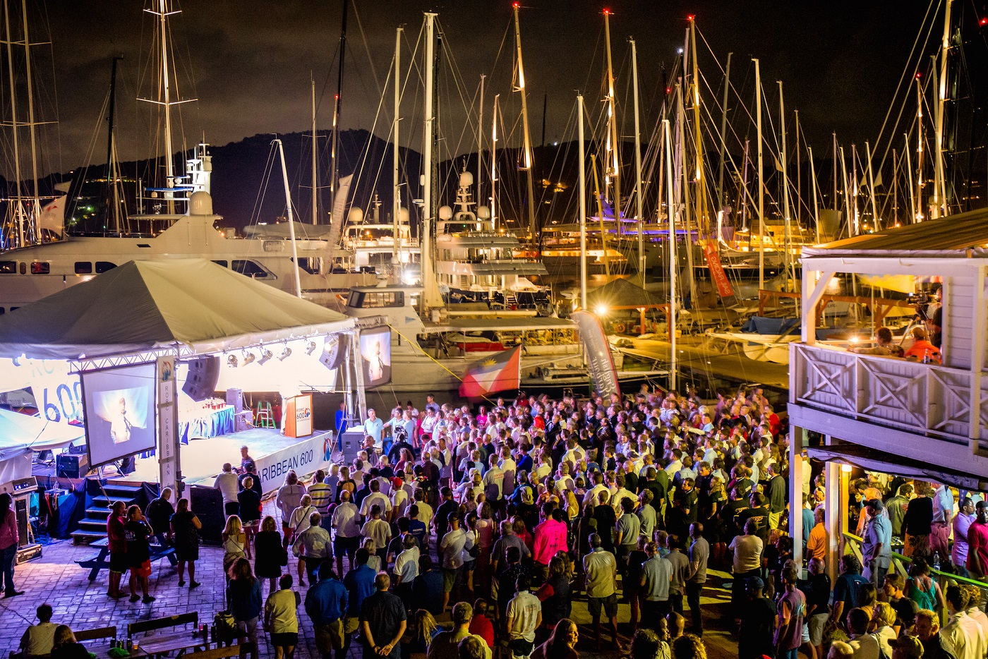 Crews gather for the RORC Caribbean 600 prizegiving at Antigua Yacht Club © RORC/Arthur Daniel