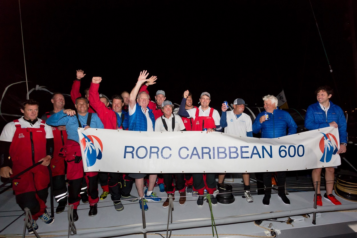Monohull Line Honours and a new monohull race record for George David's Maxi Rambler 88  © RORC/Arthur Daniel