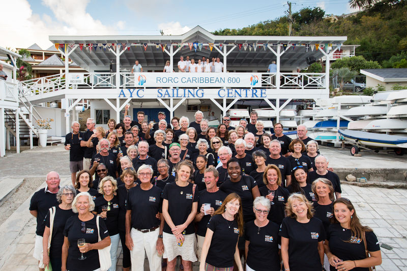 The record breaking volunteer team for the 10th Anniversary of the RORC Caribbean 600 © Arthur Daniel