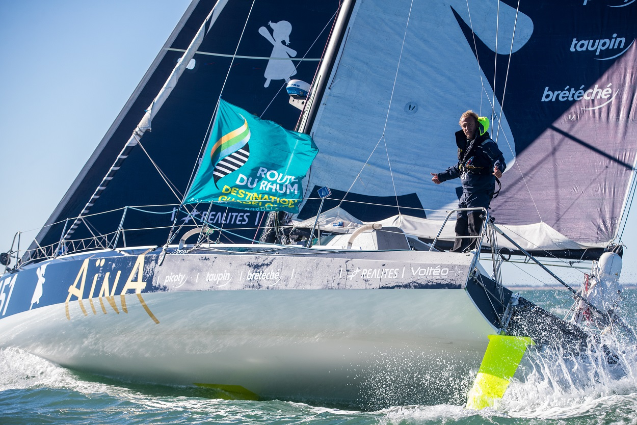 Second overall in the 2018 Route du Rhum,  Aymeric Chappellier's Class40 Aïna Enfance Et Avenir will be one to watch https://www.team-aina-151.com © Christophe Breschi
