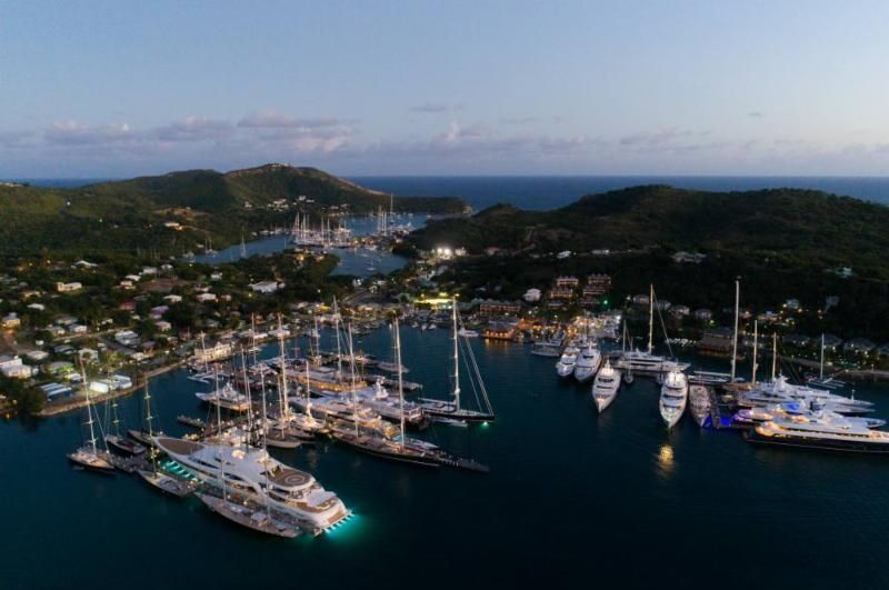 Yachts from around the world gather for the the start of the 11th RORC Caribbean 600 in Antigua  © Tim Wright/Photoaction.com