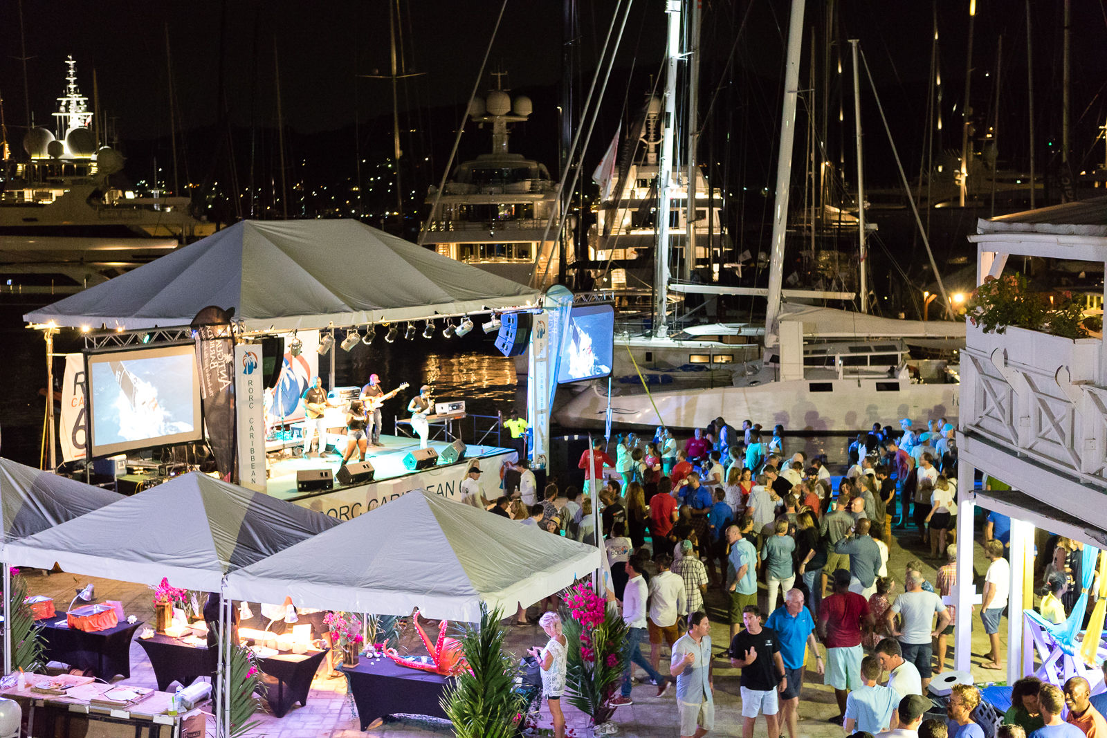 Guests enjoyed the RORC Caribbean 600 Welcome Party at Antigua Yacht Club © RORC/Arthur Daniel