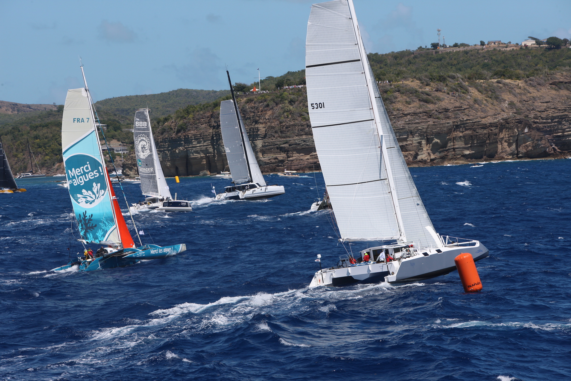 A highly competitive multihull fleet is expected for the 12th edition of the RORC Caribbean 600 in Antigua and to date includes three 70ft carbon flyers © RORC/Tim Wright/Photoaction.com
