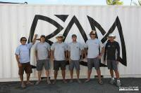Rán Shore Team: (L-R) Willy Beavis, Barney Henshaw-Depledge, Adam Minter, Troy Kennedy, Brendan Darrer, and Lance Jenkins. Photo: RORC/Tim Wright photoaction.com