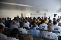 The 2013 RORC Caribbean 600 Skipper's Briefing. Photo: Tim Wright/photoaction.com