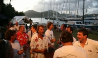 Crew part at Antigua Yachtclub