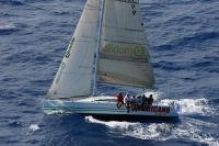 Bernie Evan Wong's Mumm 36 High Tension during the first edition of the RORC Caribbean 600 Race - photo RORC/Tim Wright