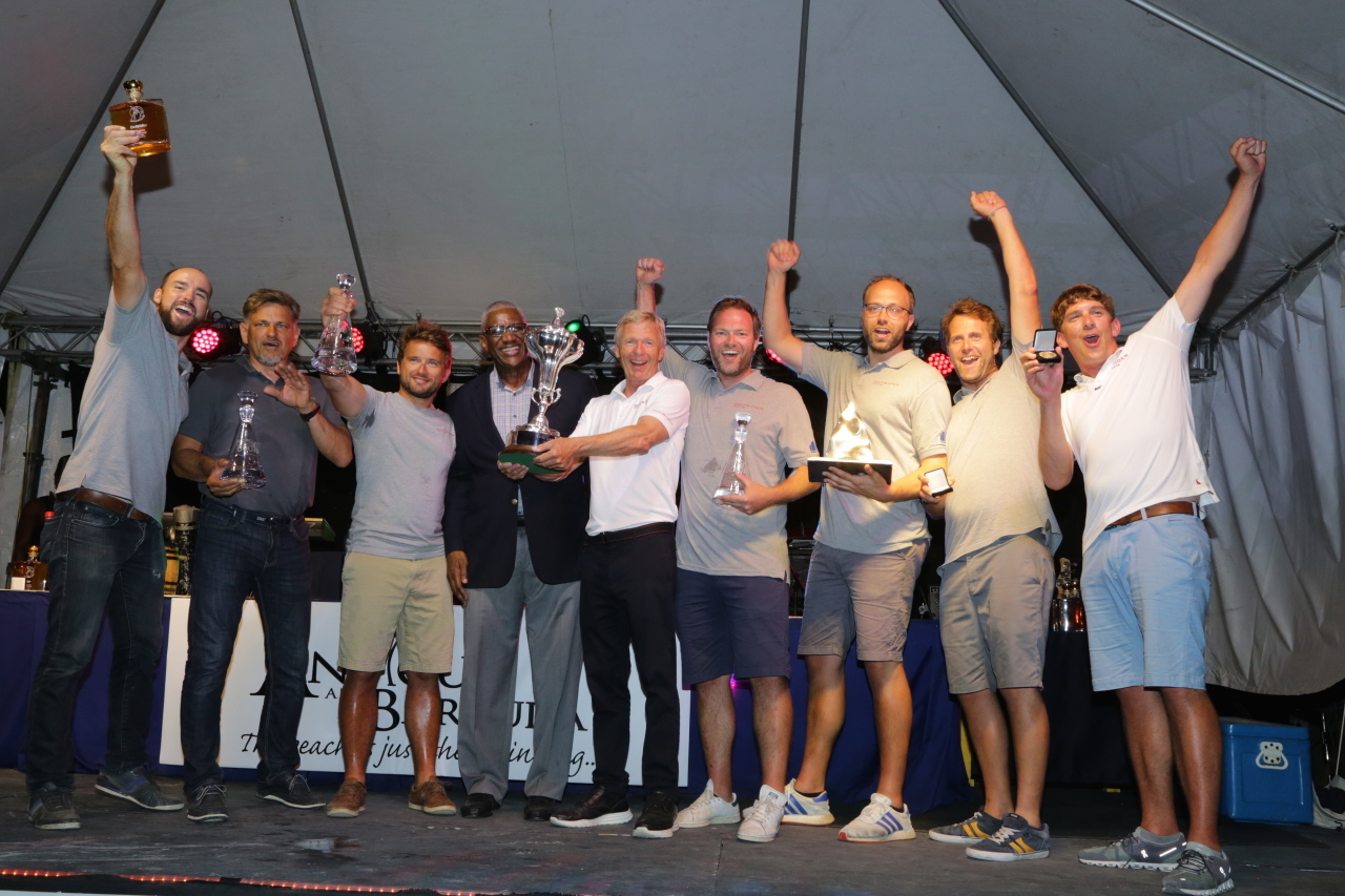 Tilmar Hansen's TP52 Outsider secure the RORC Caribbean 600 Trophy (1st IRC Overall)  - the first German boat to do so in the 12-year history of the race © Tim Wright/Photoaction.com
