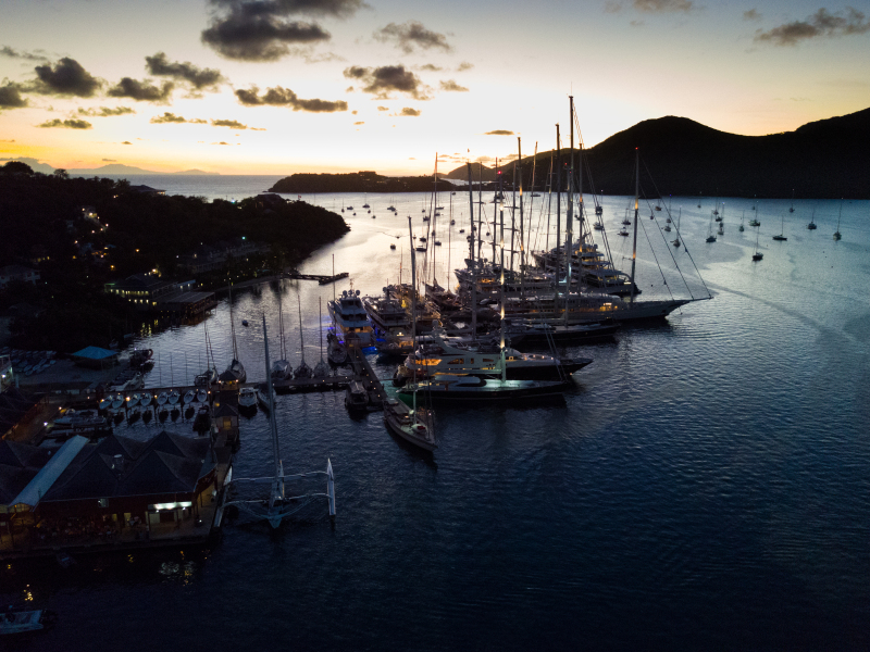 Antigua Yacht Club Marina before the start of the 2017 RORC Caribbean 600
