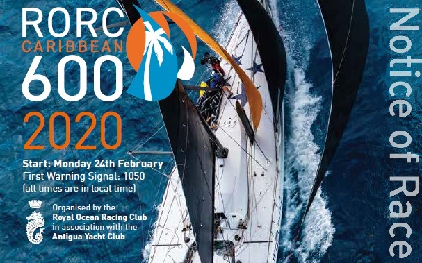 2020 RORC Caribbean 600 Notice of Race