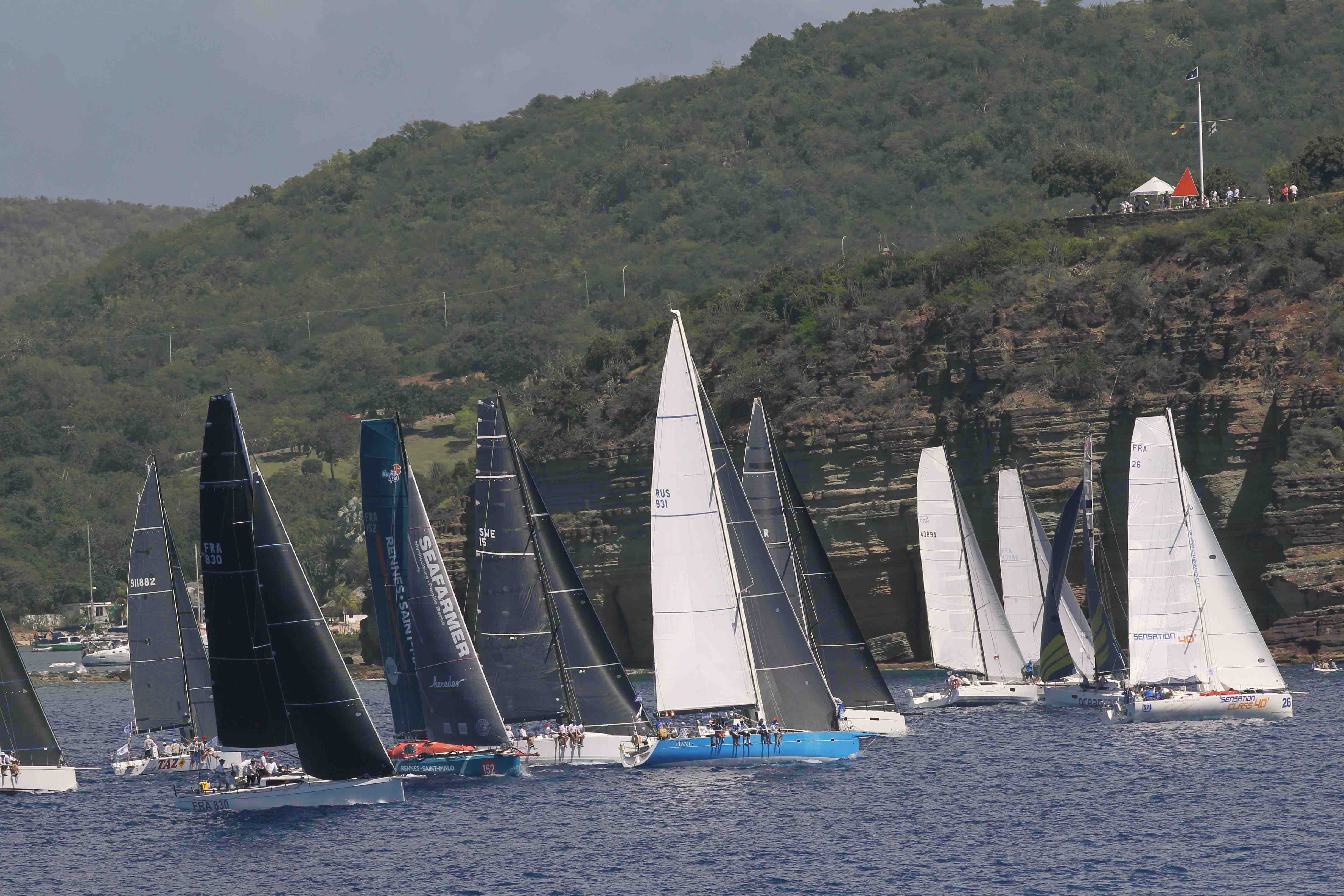 73 boats took the start in Antigua for the 12th edition of the RORC Caribbean 600 © Tim Wight / photoaction.com